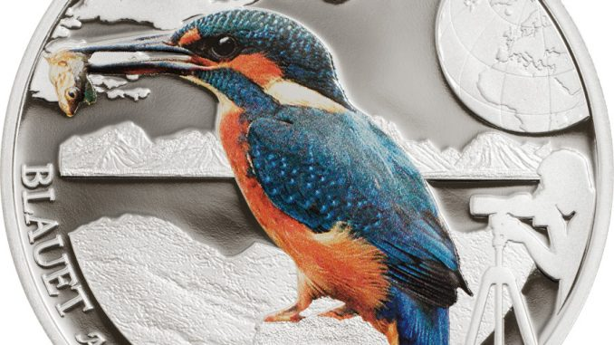 Andorra 2014 5 Diners European Kingfisher Silver Coin