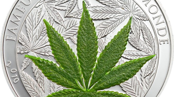 Benin 2010 100 Francs Cannabis Sativa CuNiAg