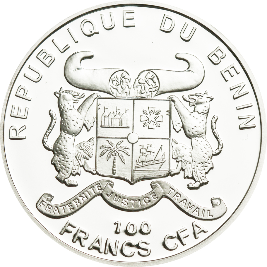 Benin 2011 100 Francs Lily of the Valley Silver Coin