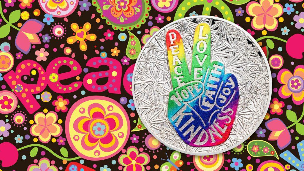 Benin 2019 1000 Francs Peace Love Silver Coin