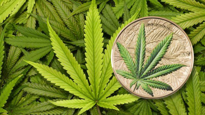 Benin 2021 1000 Francs Cannabis Sativa High Relief Gilded