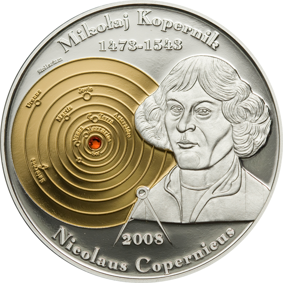Cook Islands 2008 5 Dollars Nicolaus Copernicus Silver Coin
