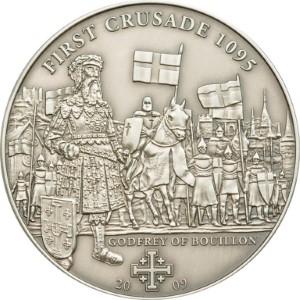 Cook Islands 2009 5 Dollars 1st Crusade Godfrey of Bouillon