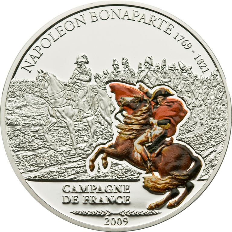 Cook Islands 2009 5 Dollars Napoleon Campagne de France Silver Coin