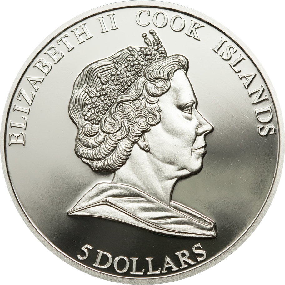 Cook Islands 2009 5 Dollars G Meade Gettysburg Silver Coin