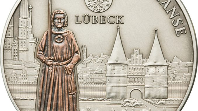 Cook Islands 2009 5 Dollars Lubeck Germany Silver Coin