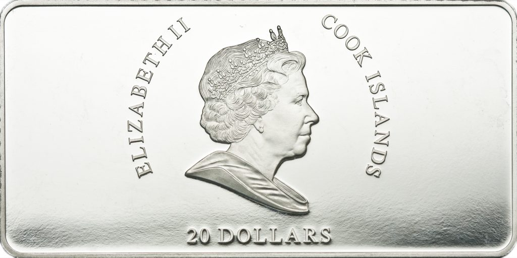 Cook Islands 2010 20 Dollars F de Goya Silver Coin