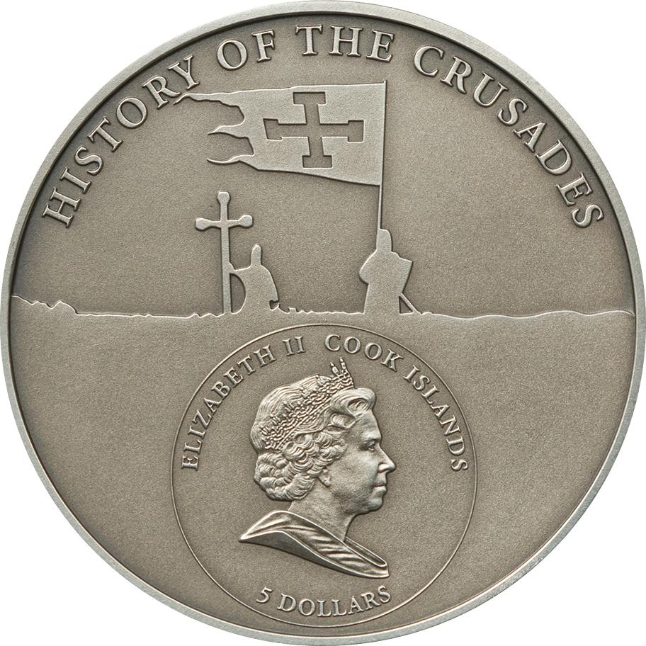 Cook Islands 2010 5 Dollars 4th Crusade Dandolo of Venice