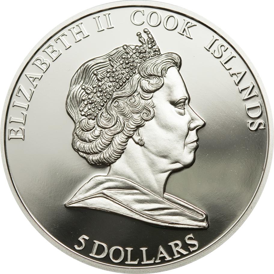Cook Islands 2010 5 Dollars Don Juan de Austria Battle of Lepanto Silver Coin