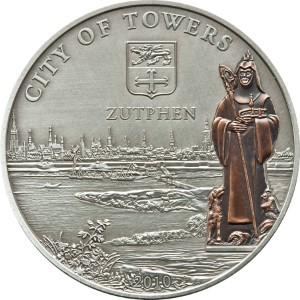 Cook Islands 2010 5 Dollars Zutphen The Netherlands Silver Coin