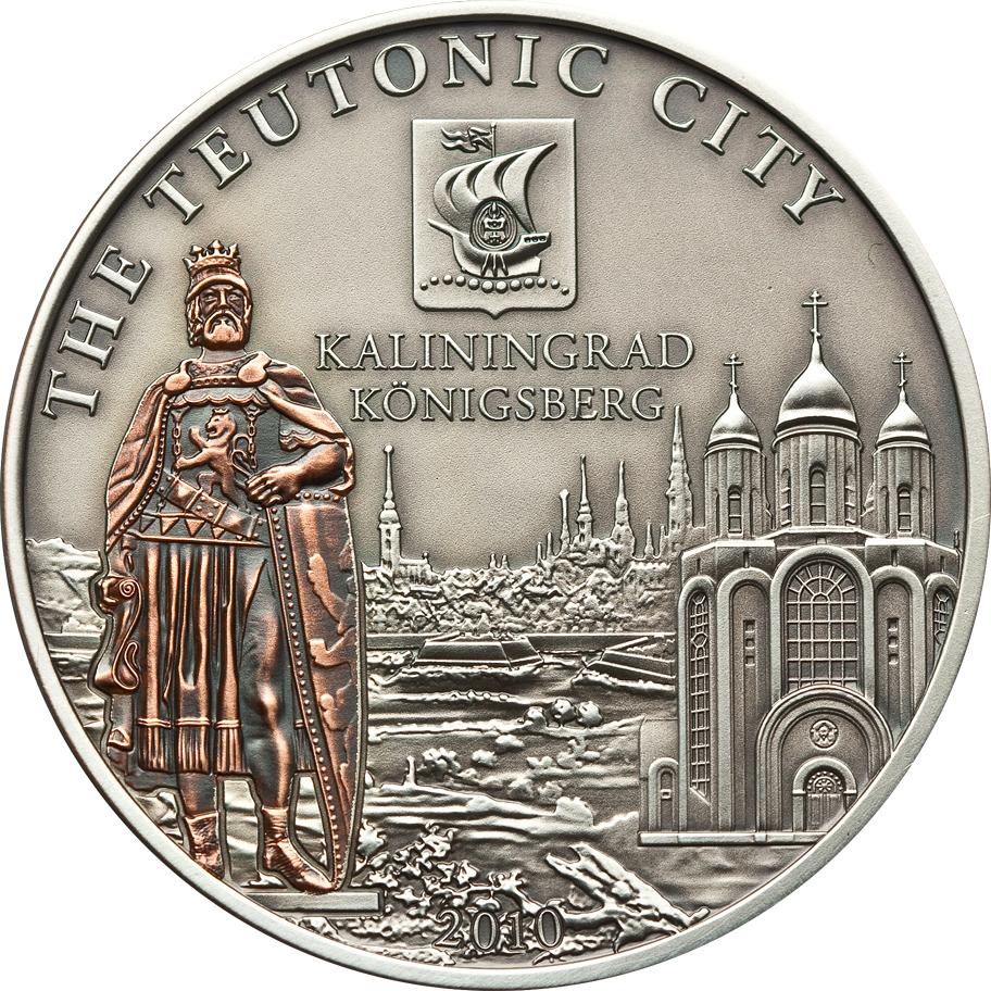 Cook Islands 2010 5 Dollars Kalinigrad Russia Silver Coin