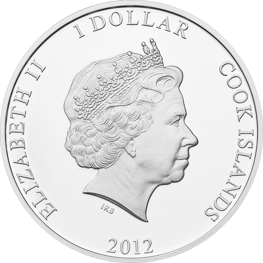 Cook Islands 2012 1 Dollar Ctyrlistek Friends Silver Coin
