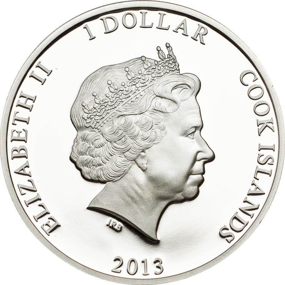 Cook Islands 2013 1 Dollar Ctyrlistek Myspulin Silver Coin