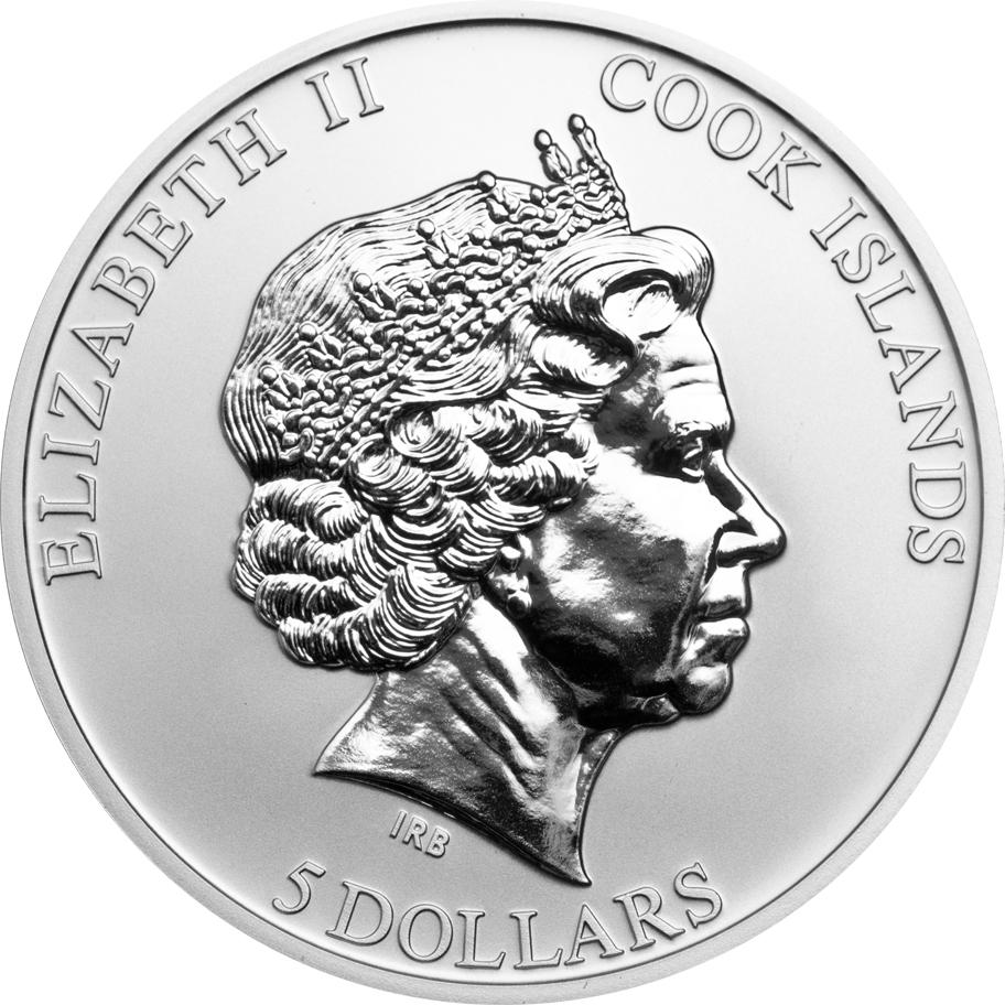 Cook Islands 2013 5 Dollars Black Squirrel Silver Coin