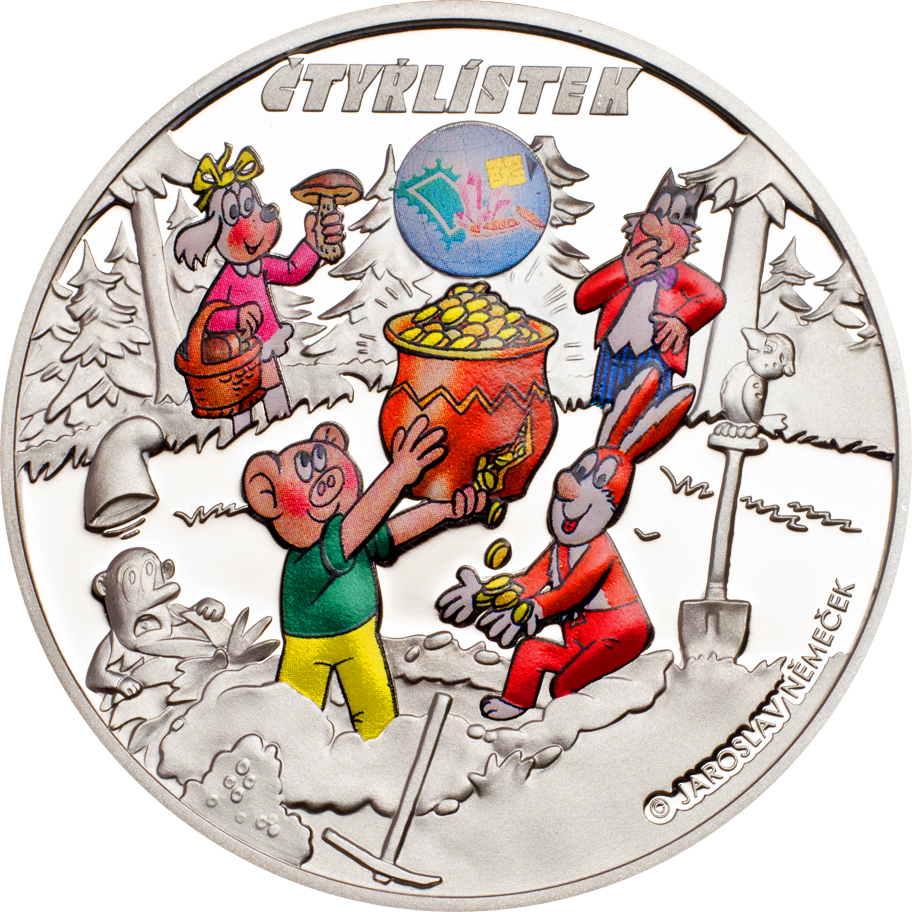 Cook Islands 2013 1 Dollar Ctyrlistek Sberatel Silver Coin