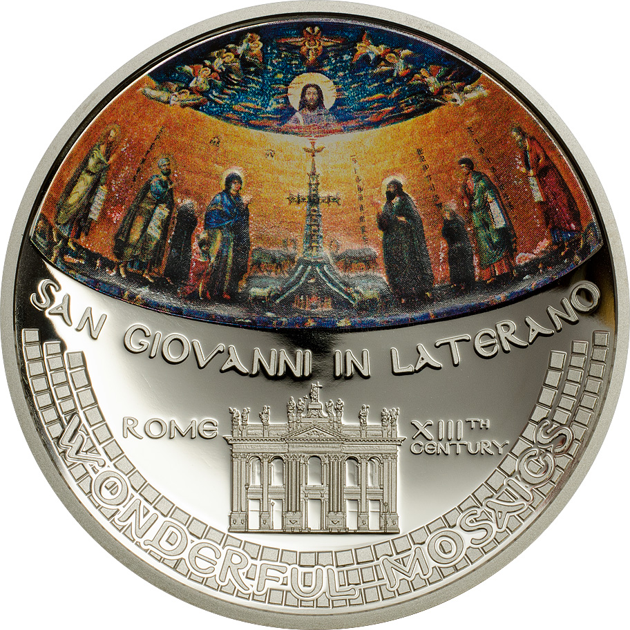 Cook Islands 2014 5 Dollars Giovanni in Laterano Mosaic Silver Coin