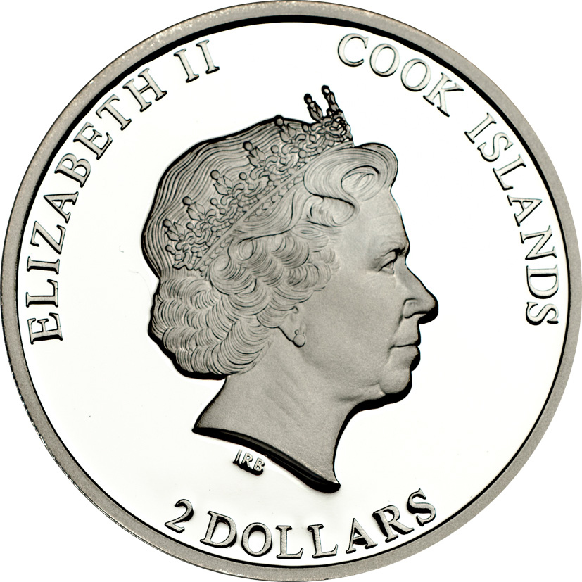 Cook Islands 2014 2 Dollars Pope Franciscus 1st Anniversary Silver Coin
