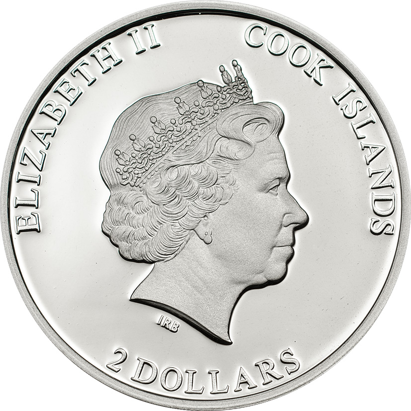 Cook Islands 2014 2 Dollars Canonization of JPII Silver Coin