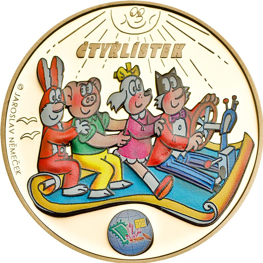 Cook Islands 2014 Ctyrlistek Sberatel 2014 CuAu Golden Coin
