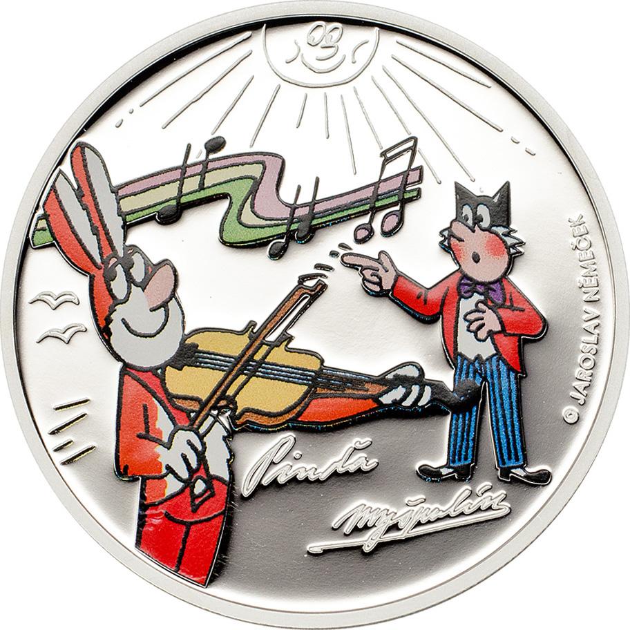 Cook Islands 2014 Ctyrlistek Pinda & Myspulin Silver Coin