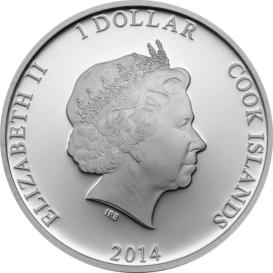 Cook Islands 2014 Ctyrlistek Fafinka Bobik Silver Coin