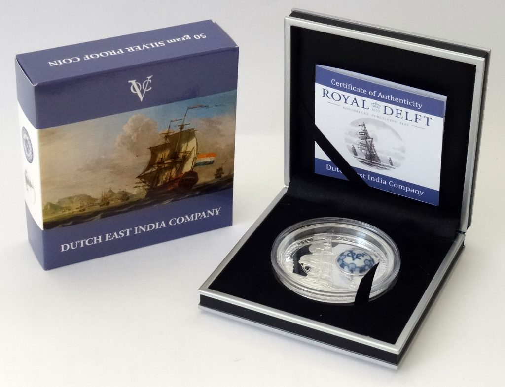 Cook Islands 2014 10 Dollars Royal Delft Dutch East India Company Silver Coin
