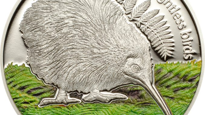Cook Islands 2014 5 Dollars The Kiwi No Color Silver Coin