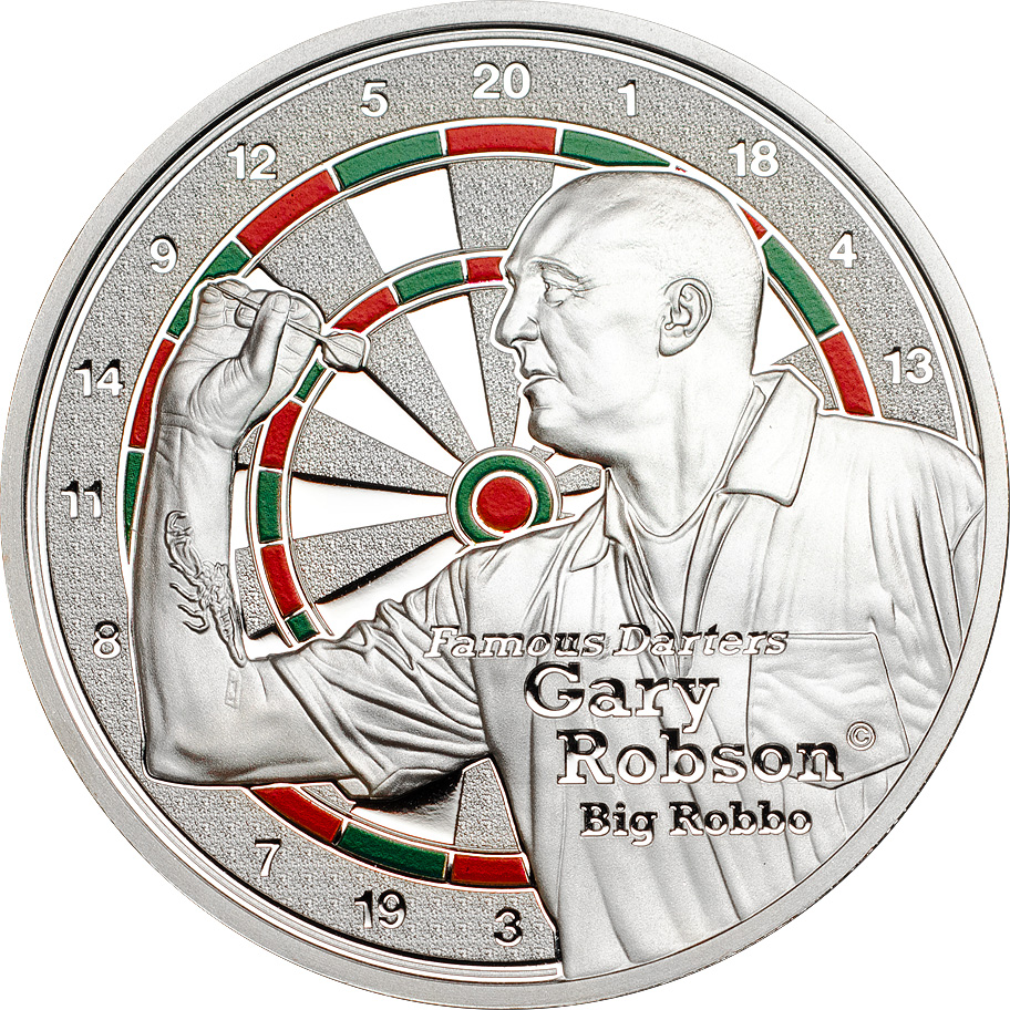 Cook Islands 2014 1 Dollar Famous Darters Robson Silver Coin