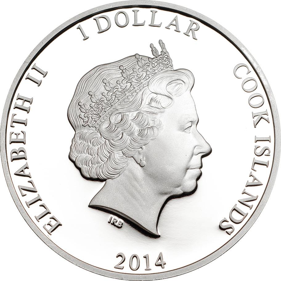 Cook Islands 2014 1 Dollar Famous Darters O Shea Silver Coin