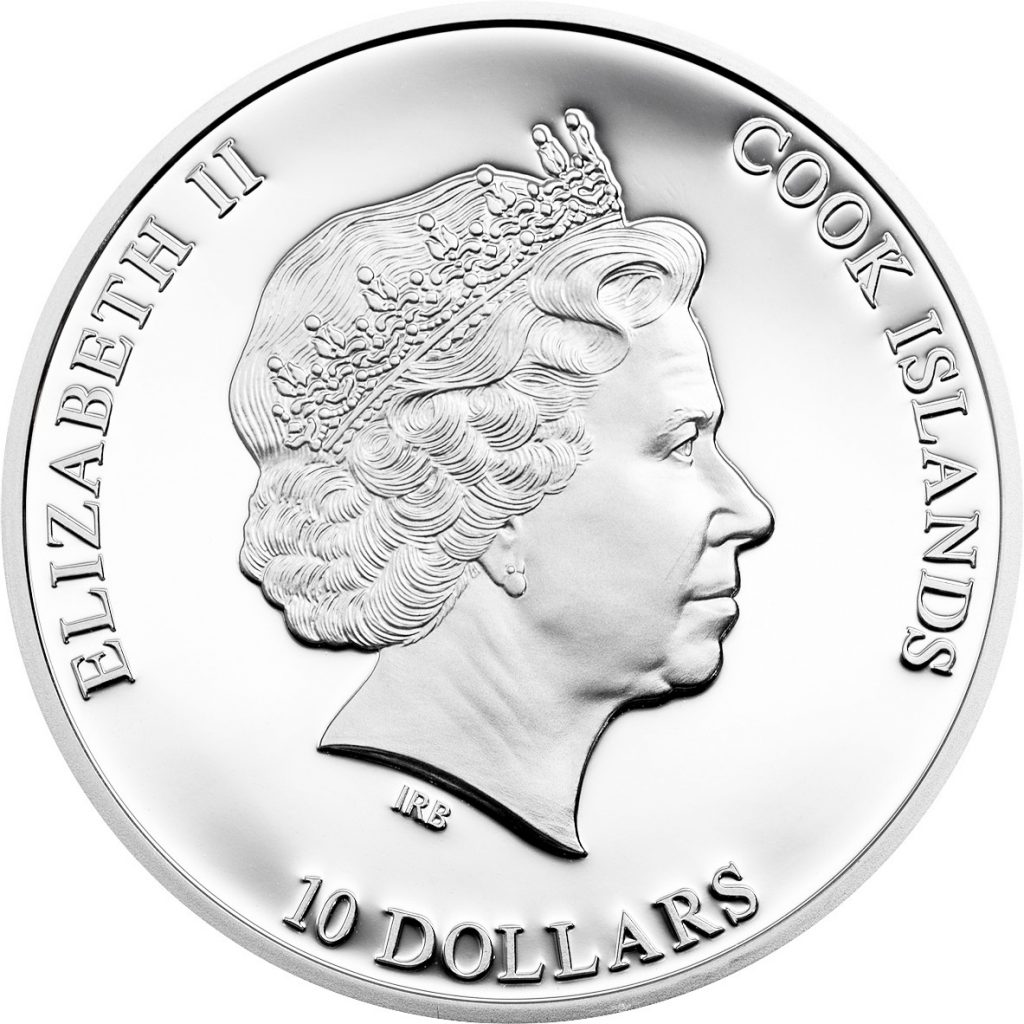 Cook Islands 2015 10 Dollars Great Star of Africa Diamond Silver Coin