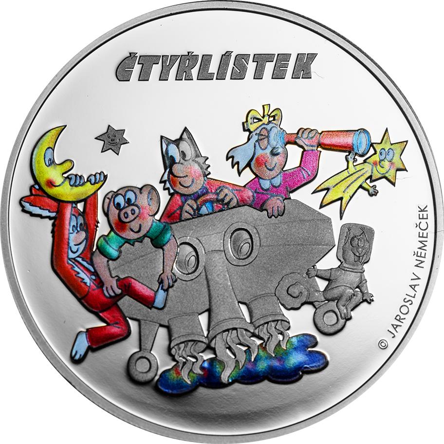 Cook Islands 2015 5 Dollars Ctyrlistek 2015 Silver Coin