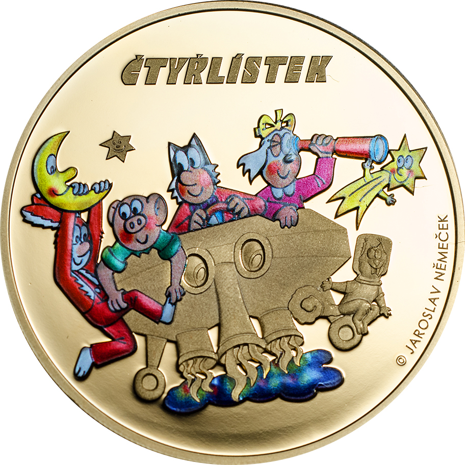 Cook Islands 2015 1 Dollars Ctyrlistek 2015 Golden Coin