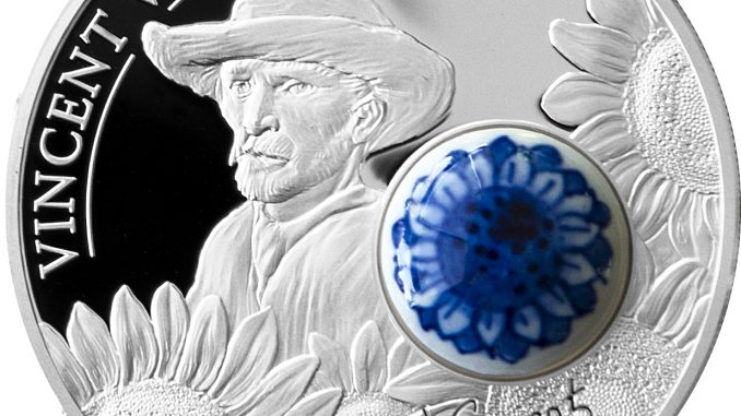 Cook Islands 2015 10 Dollars Royal Delft 125th ann Vincent van Gogh Silver Coin