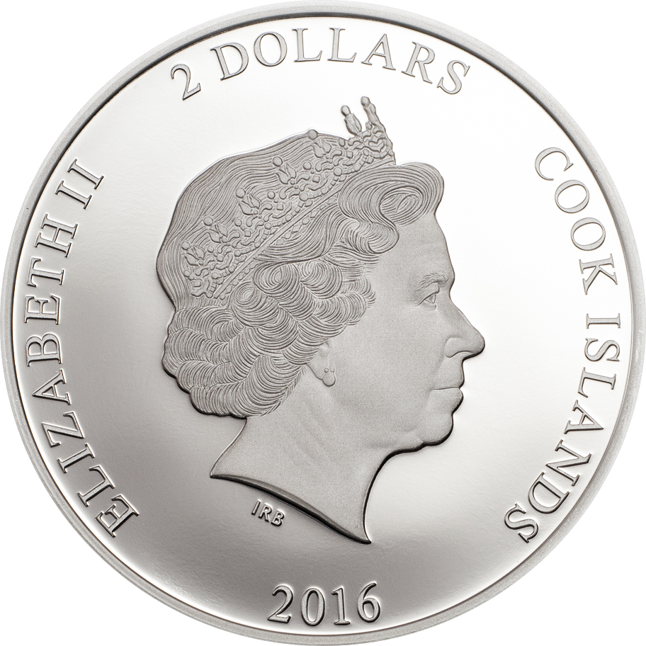 Cook Islands 2016 2 Dollars Rimatara Rainbow Lorikeet Silver Coin