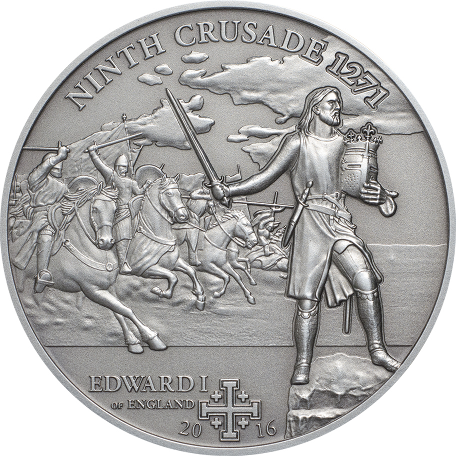 Cook Islands 2016 5 Dollars 9th Crusade Edward I of England Silver Coin