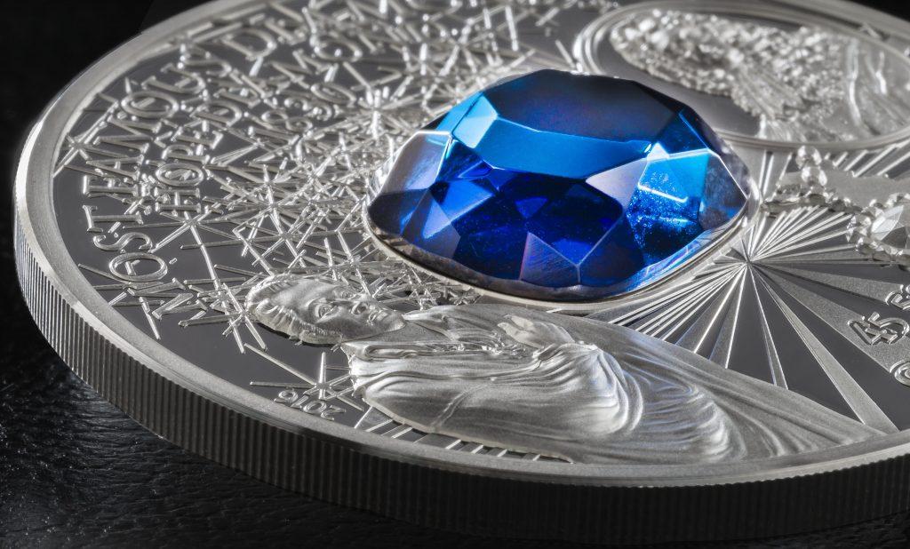 Cook Islands 2016 10 Dollars Hope Diamond Silver Coin