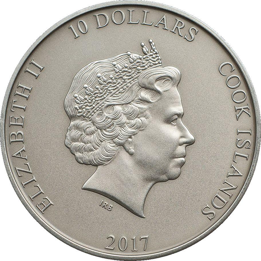 Cook Islands 2017 10 Dollars Thors Hammer Mjollnir Silver Coin