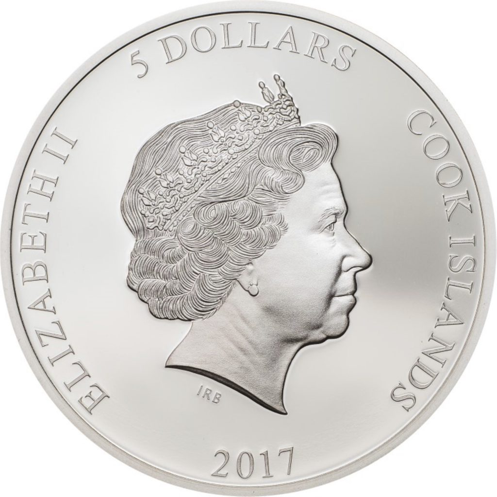 Cook Islands 2017 5 Dollars Basilica San Vitale Silver Coin