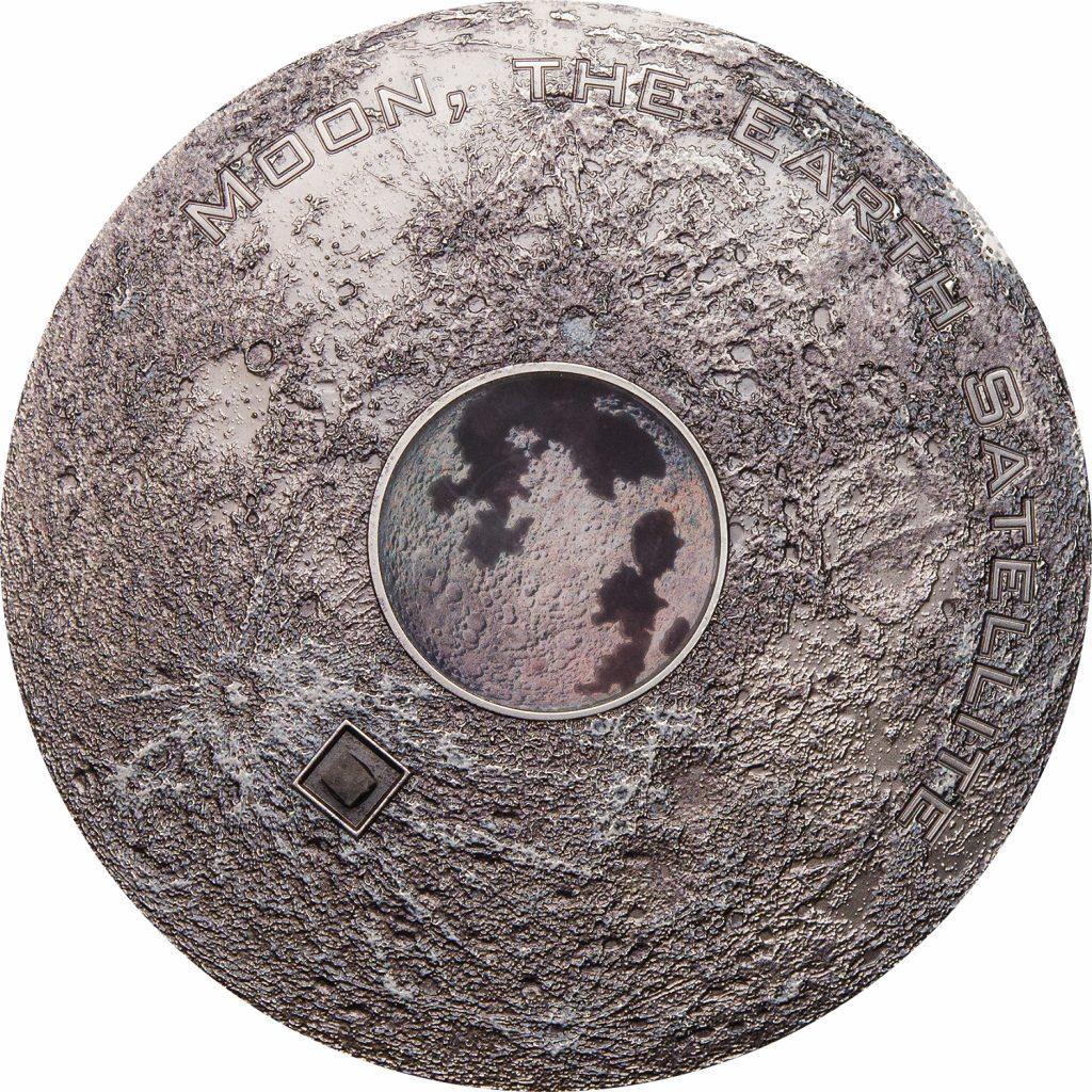 Cook Islands 2017 20 Dollars Meteorite Moon Earths Satellite Silver Coin