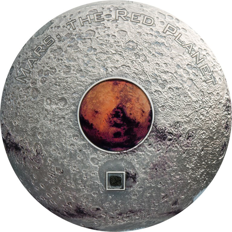Cook Islands 2017 20 Dollars Meteorite Mars The Red Planet Silver Coin
