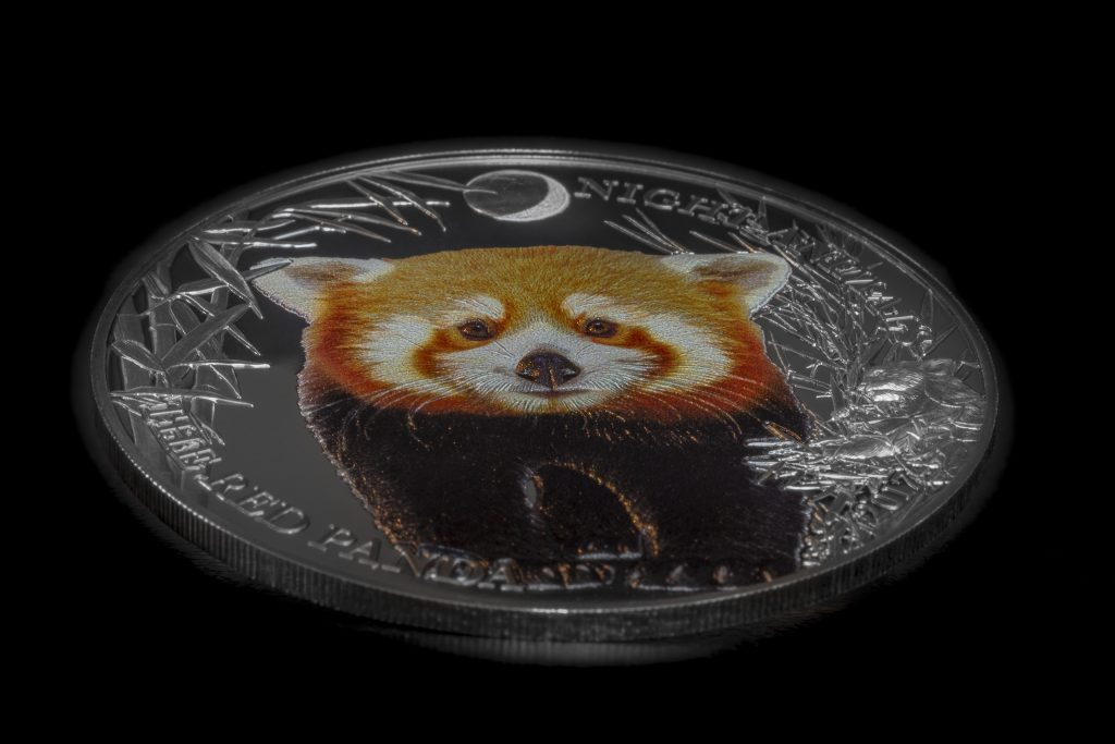 Cook Islands 2017 5 Dollars Red Panda Silver Coin