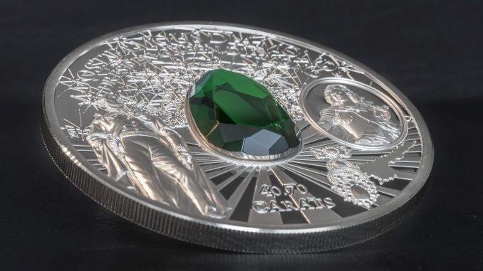 Cook Islands 2017 10 Dollars Dresden Green Diamond Silver Coin