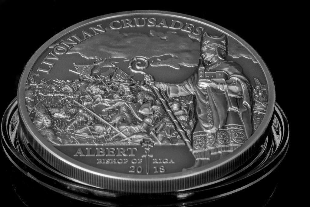 Cook Islands 2018 5 Dollars Northern Crusades Livonian Crusade Silver Coin