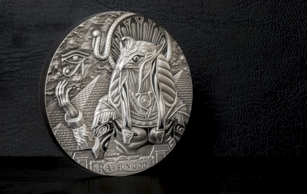 Cook Islands 2018 20 Dollars Ra Sun God Silver Coin