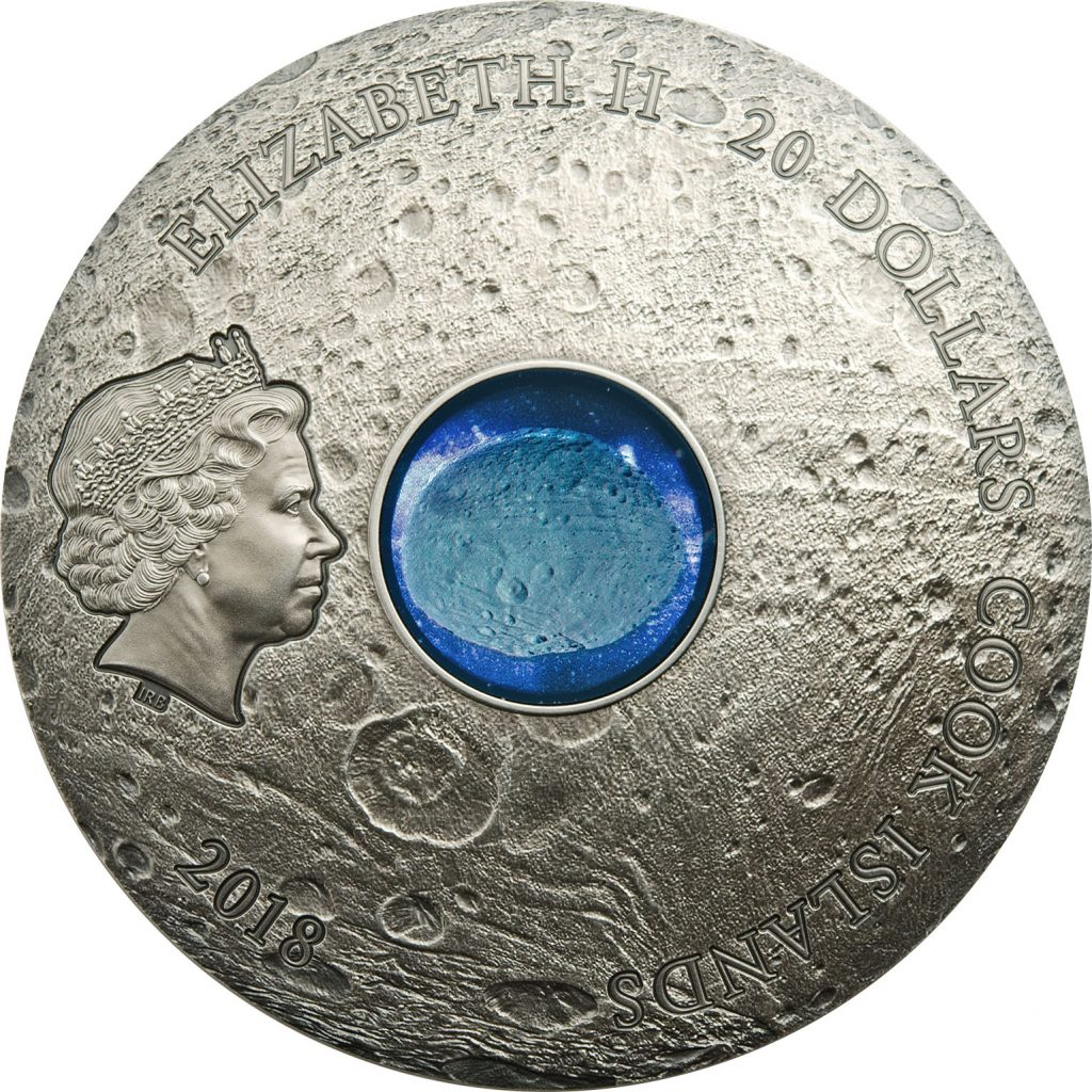 Cook Islands 2018 20 Dollars Meteorite Vesta the Largest Astroid Silver Coin