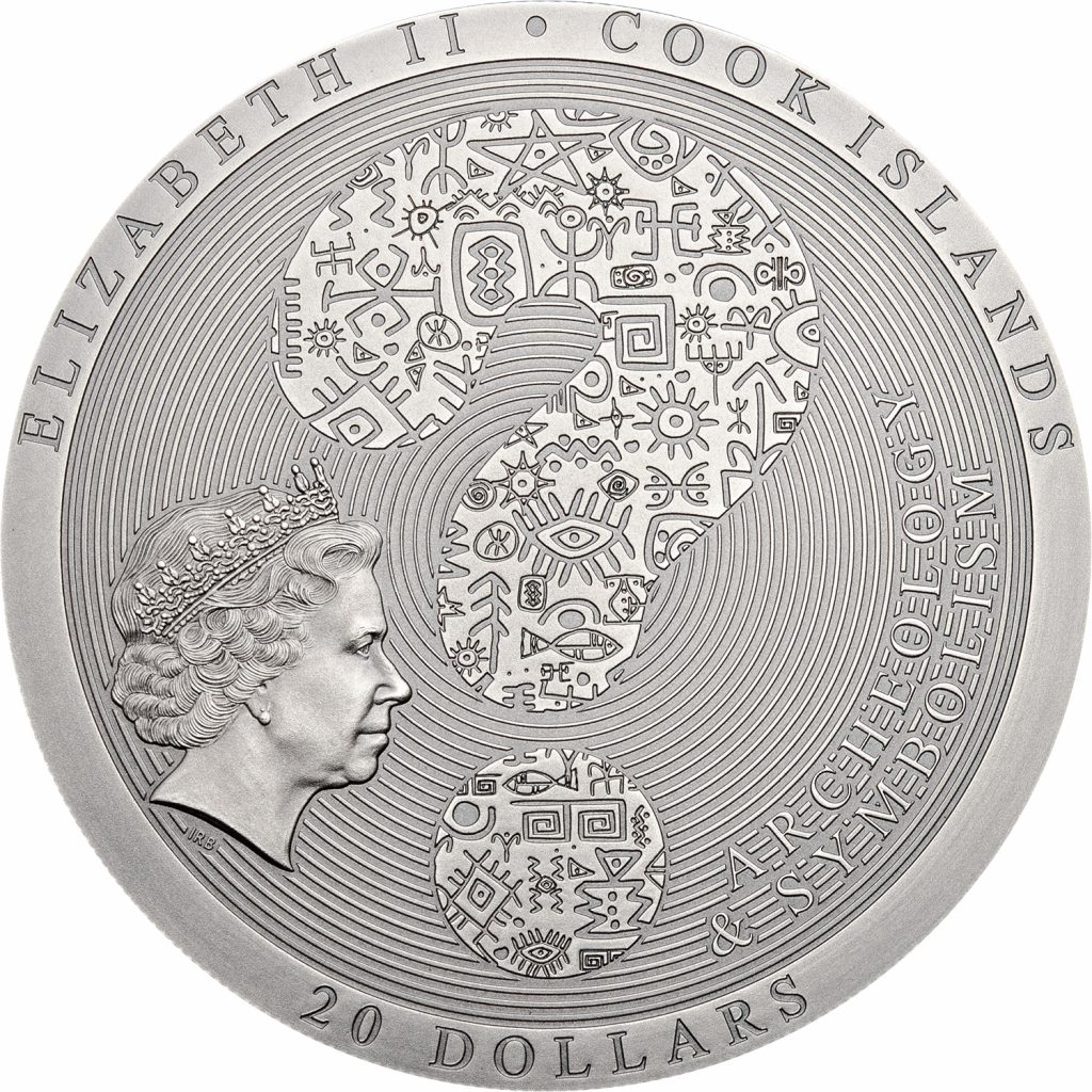 Cook Islands 2018 20 Dollars Aztec Calendar Silver Coin