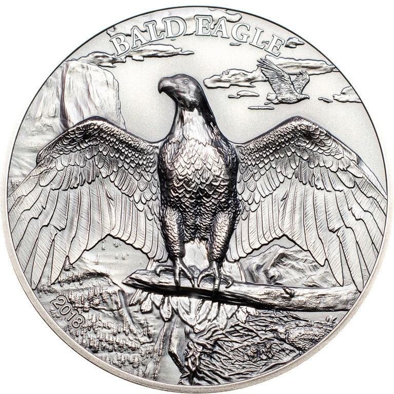 Cook Islands 2018 5 Dollars Blad Eagle Silver Coin