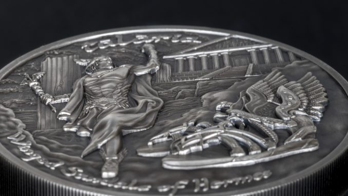 Cook Islands 2019 10 Dollars Winged Sandals of Hermes Talaria Silver Coin
