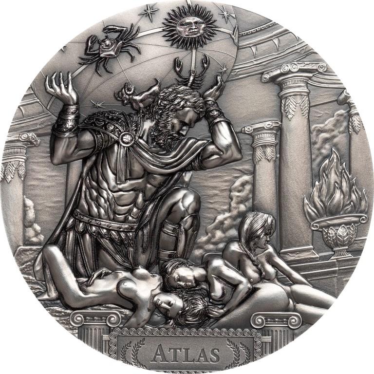 Cook Islands 2019 20 Dollars Titan Atlas The Hesperides Silver Coin