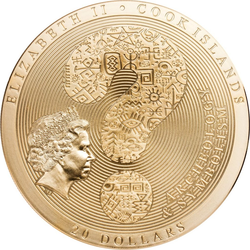 Cook Islands 2019 20 Dollars Samsara Wheel of Life Golden Coin